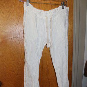 White Roxy drawstring pants size Small